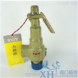中国永一弹簧微启式丝扣铸钢安全阀A27H