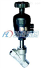 2000Y型带手动调节气动角座阀